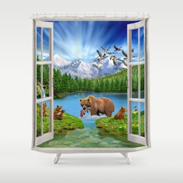 Window to the Great Bear Wilderness Shower Curtain