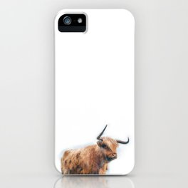 Highland Cow Watercolour iPhone Case