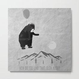 Bad Bear In The Air Metal Print