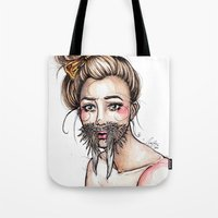 walrus Tote Bags featuring Walrus by Nora Bisi