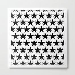 Black & White Stars Metal Print