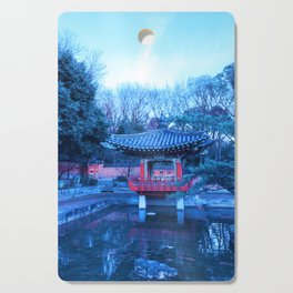 Red Pavilion in a Japanese Garden Cutting Board