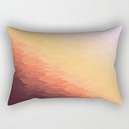 Peach Texture Ombre Rectangular Pillow