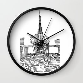 Dubai: Horro Vacui on an Urban Level Wall Clock