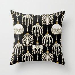 Skeleton Baubles Pattern Throw Pillow
