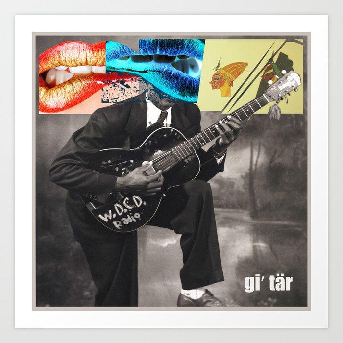 WDCD RADIO : Guitar Art Print
