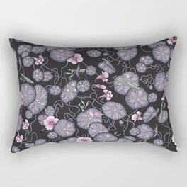 Black Indian cress garden. Rectangular Pillow