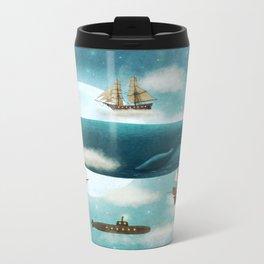 Ocean Meets Sky - revised Metal Travel Mug