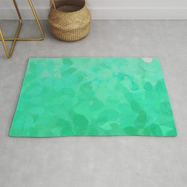 Floral Ombre (Turquoise) Rug