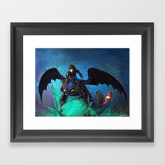 The Alpha Protects Them All Framed Art Print
