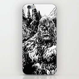 PACIFIC NORTHWEST SASQUATCH iPhone Skin