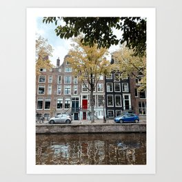 Fall in Amsterdam, The Netherlands | Travel Photography Cityscape Buildings Art Print Art Print