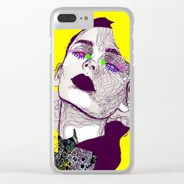 Purple woman Clear iPhone Case