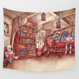 Koala and Girl Naturalists Wall Tapestry