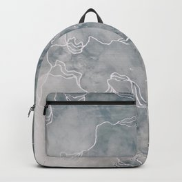 The Awakening (Acrylic Abstract Painting, Grey & White) Backpack