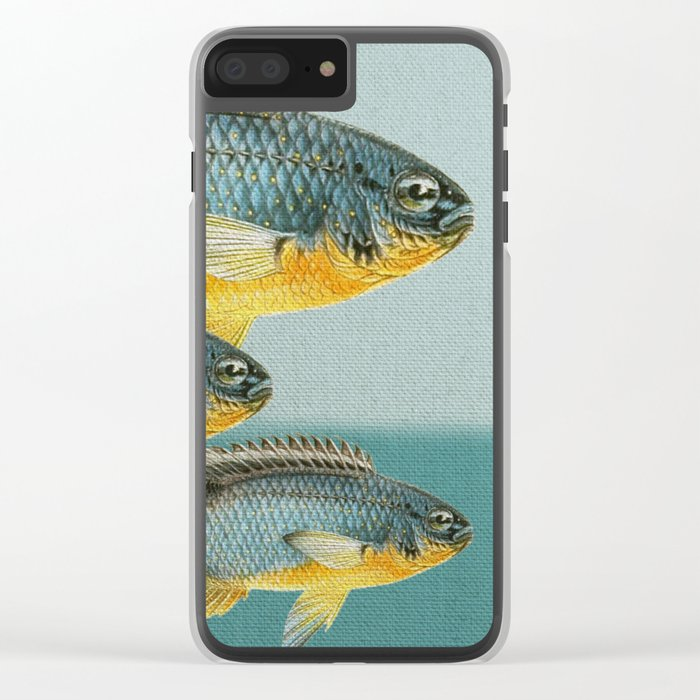 Fish Classic Designs 12 Clear iPhone Case