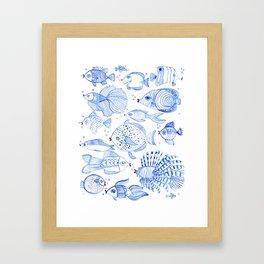 Fish Kiss Framed Art Print
