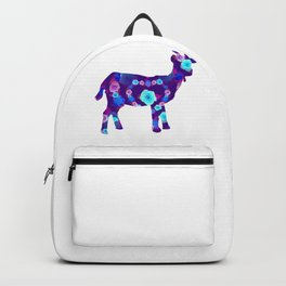 Blue roses goats Backpack