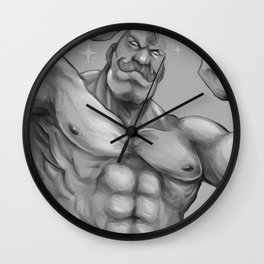 Major Alex Louis Armstrong - Black and White Wall Clock