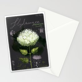 "Botanical illustration ""Hydrangea Arborescens"" Stationery Cards"
