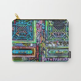 French Painted Colorful Paris Doorway Photograph Carry-All Pouch