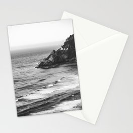 Pacific Northwest Grandeur - Heceda Lighthouse Black and White Stationery Cards