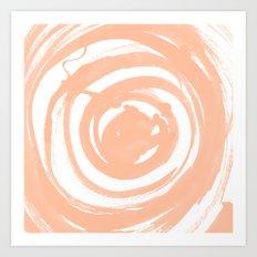 Swirl Peach Art Print