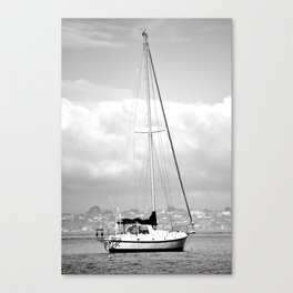 Sailboat: The sea is calling Canvas Print