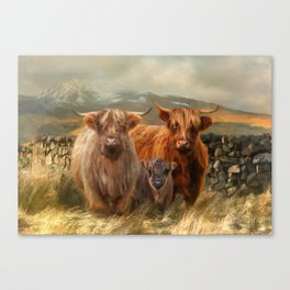 Hairy Coo's Canvas Print
