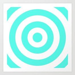 Target (Turquoise & White Pattern) Art Print
