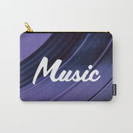 Music on Record. (Purple) Carry-All Pouch