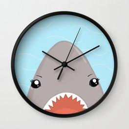 Cute Kawaii Shark Wall Clock