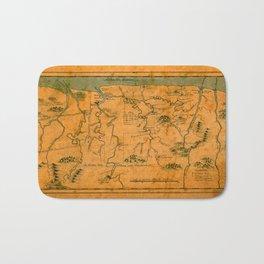 Map Of Suriname 1808 Bath Mat