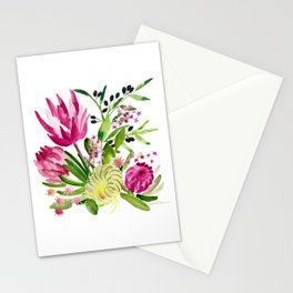 Protea Flower Bloom Stationery Cards