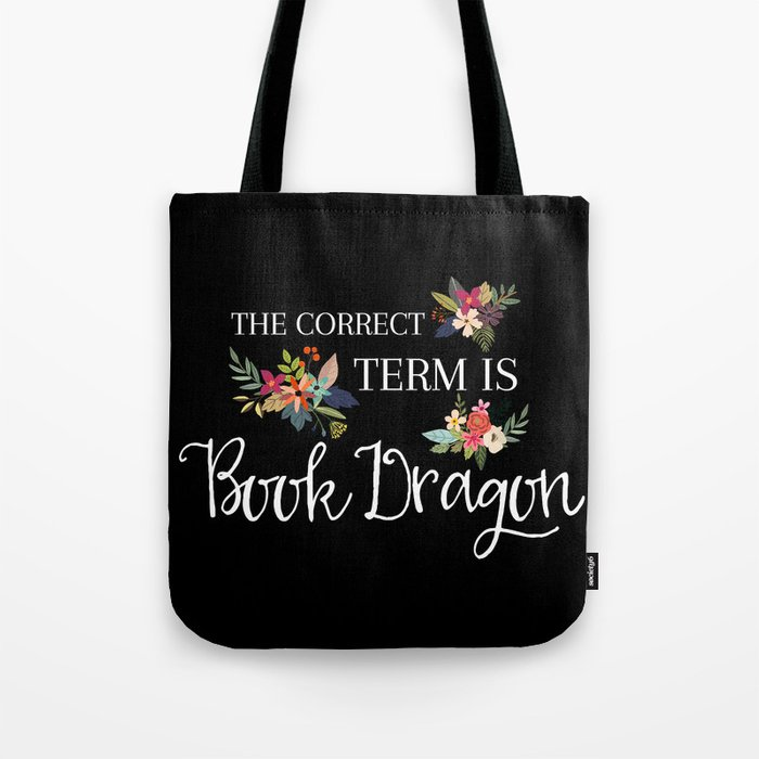 Book Dragon Tote Bag