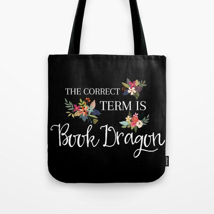 Book Dragon Tote Bag