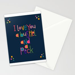 Navy Blue Series Bushel and a Peck Stationery Cards