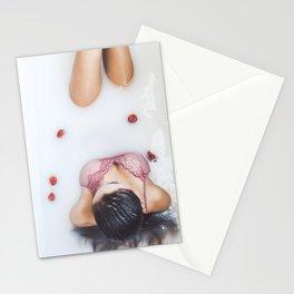 strawberry milk Stationery Cards
