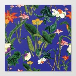 Vintage wild flowers blue Canvas Print
