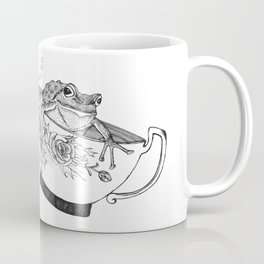 Pacific Northwest Tree Frog Riding in a China Teacup Coffee Mug