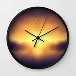 welcome to the dream gate. ayahuasca trip Wall Clock