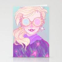 luna lovegood Stationery Cards featuring Luna Lovegood by Magnta