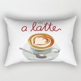 Love You a Latte Rectangular Pillow