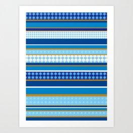 hanukkah wrap Art Print