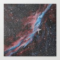 outer space Canvas Prints featuring Outer Space by Studio 502