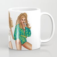 versace Mugs featuring JLo Coming Home by Anthony Michael