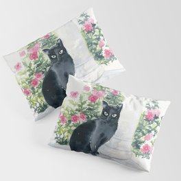 Guard Cat On Duty Pillow Sham