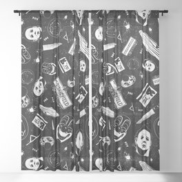 Welcome to Haddonfield! Sheer Curtain