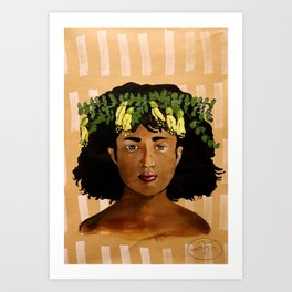 Kowhai Crown Art Print