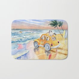 Dogs On Vacation Bath Mat